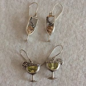 2Pair Sterling Cocktail Earrings